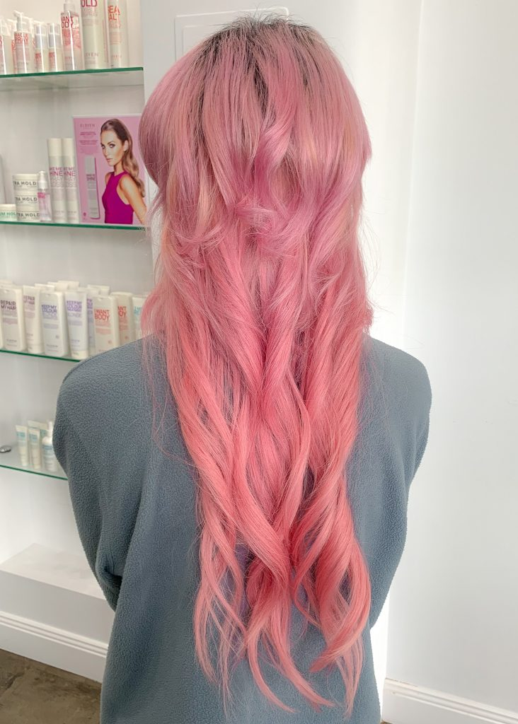 Hair, Tape Extension, Hair Extension, Pink Hair, After Photo